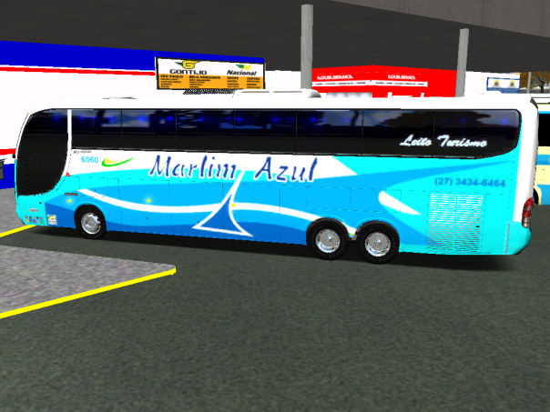 ModBus ALH Paradiso G6 1150LD Scania Marlim Azul Turismo - Mapa do Juvenal